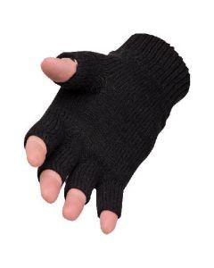Pr.Handschoenen gebreid z.vingers Blauw