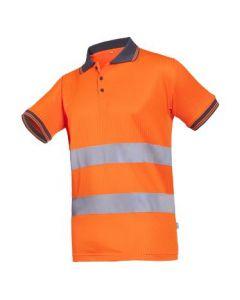 Signaal Polo-shirt oranje met grijze kraag