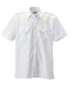 Overhemd Pilot KM  Wit