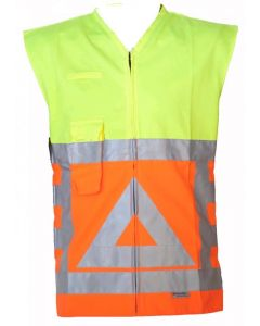 Verkeersregelaarsvest Oranje/geel