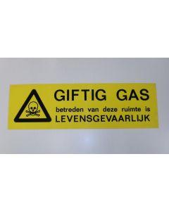 Bord alum.Geel/Zw.Giftig gas/Doodsk
