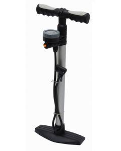 Voetpomp met drukmeter voor meer ventielen geschikt