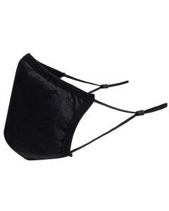 Mondmasker 3 laags Anti Microbieel Wasbaar op 60 graden 25st verpakking zwart