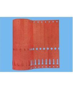 Sleufetiketten 14x1,3 kleur Rood