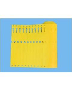 Sleufetiketten 14x1,3 kleur Geel