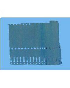 Sleufetiketten 14x1,3 kleur Blauw