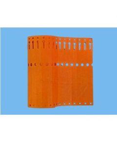 Sleufetiketten 14x1,3 kleur Oranje
