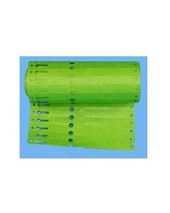 Sleufetiketten 14x1,3 kleur Groen