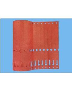 Sleufetiketten 20x2,0 kleur Rood