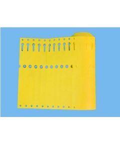 Sleufetiketten 20x2,0 kleur Geel