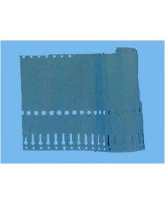 Sleufetiketten 20x2,0 Kleur Blauw