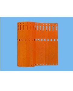 Sleufetiketten 20x2,0 kleur Oranje