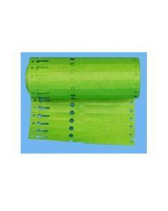 Sleufetiketten 20x2,0 kleur Groen