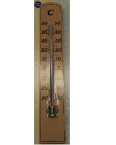 Buitenthermometer Hout 20 cm.