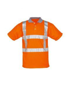Sign. Polo-shirt TD RWS refl. Oranje/grijze kraag