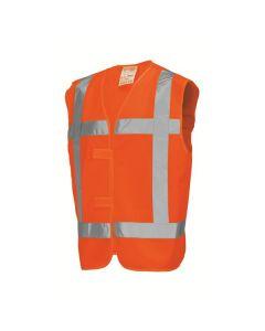 Veiligheidshesje  V-RWS met klittenband Oranje
