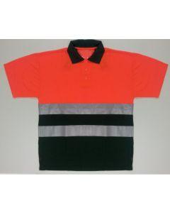 Signaal Poloshirt Viloft Oranje/groen EN471 2/2