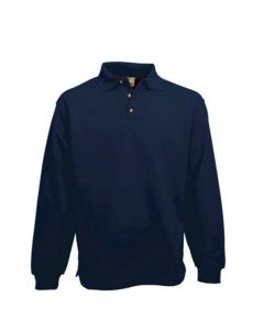 Polosweater L&S 3213 zonder boord