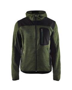 Gebreide vest Greenline met softshell versterkt